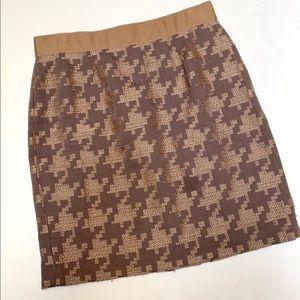 Ann Taylor Loft Size 8 Tan Brown Tweed Work Skirt